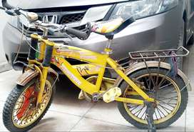 Yellow Kids Bicycle in very good condition