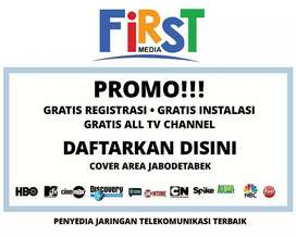 First Media Internet WIFI dan TV kabel Promo 2020