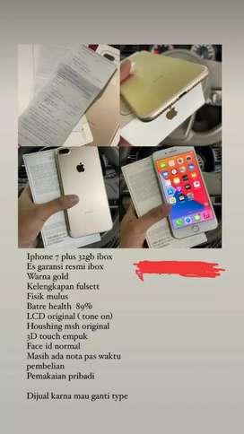 iphone 7+ 32GB rose gold