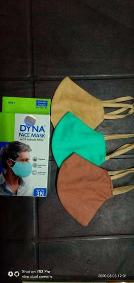 Dyna face mask with inbuilt filter