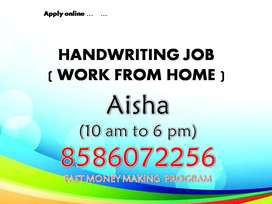 Manual Handwriting Work from your home