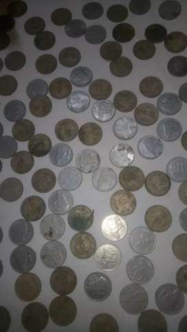 Old 25 paisa and 10 paisa 100+ coins available here now