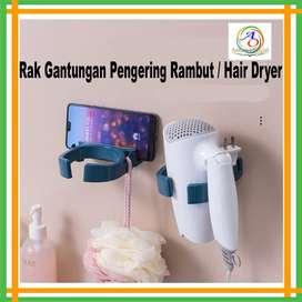 Rak Gantungan Hair Dryer Holder Tempelan Tempat Alat Pengering Rambut