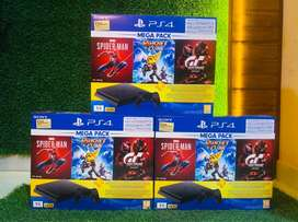 With 12 GAMES FREE PlayStation Slim 4 1tb (Ps4) + 1 Year Sony India W
