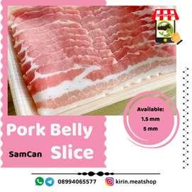 Pork belly slice kapsim slice, babi slice