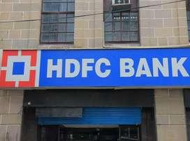Urgent requirement HDFC Bank requirement