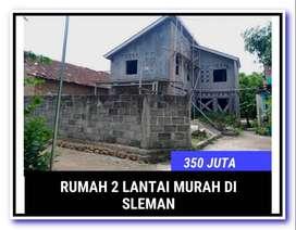 Murah Meriah!! Rumah Dijual  2 Lantai 300an Juta di Sleman