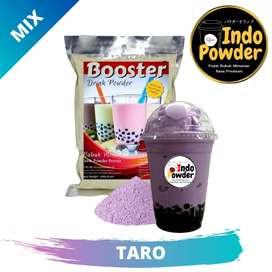 bubuk minuman rasa taro dan buah buahan indopowder booster 1 kg