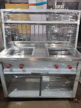 2 burner bhatti counter at factory price