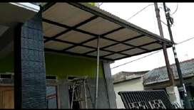@247 Rangka tunggal kanopi minimalis atap alderon bebas panas