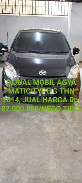 Dijual Mobil Agya Matic Type G THN 2014