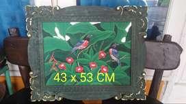 Ukiran Lukisan Bali 43x53 CM