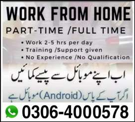 Part time/Full time/Home base (Students/teachers) Male/Females, Jobs
