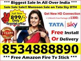 Tata sky india No 1 Offer Full install All india service Airtel tv