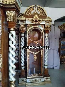 Ready lemari Jam Material Kayu Jati #67
