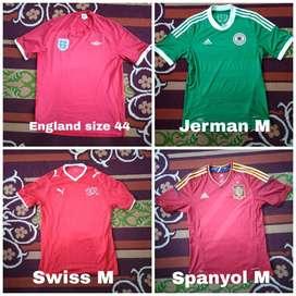 Jersey sepakbola Euro ori koleksi bola pribadi