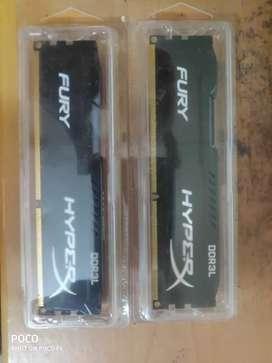 Kingston HyperX FURY 4GB Twin RAMS