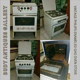 Vintage Philips Enameled Gas Oven Stove