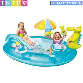 Kids pool with slide intex