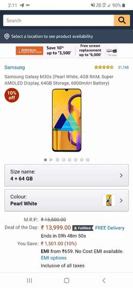 Samsung M30s Brand new only 16 days old.