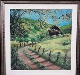 Oil painting on canvas natural scene.