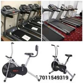 Cross trainer and exercise cycle