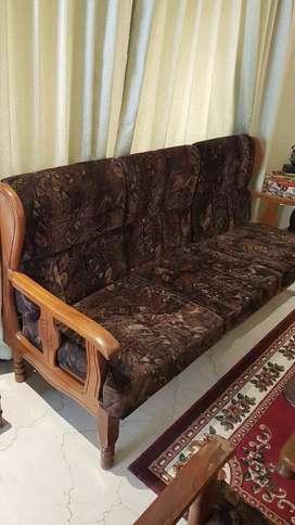 5-seater (teak wood) sofa set