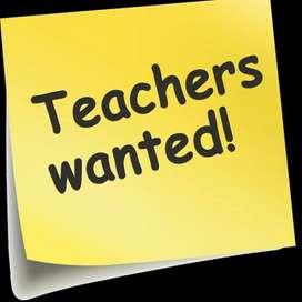 Wanted maths,telugu,social,biology  teachers for high school