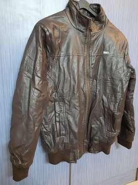 Original ZARA man leather jacket