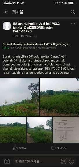 Menjual tanah ukuran 15x55