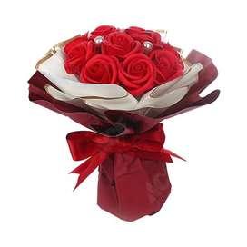 Para Ella Bunga Artifisial Mawar Bouquet Sofia 25 Cm - Merah