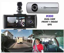 ALL CAR CAM R-300 Dash Camera AUDIO VIDEO Front Inside and GPS NEW FHD
