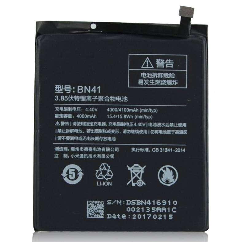 Baterai Xiaomi Redmi Note 4 mtk - BN41 4000mAh ORIGINAL 0