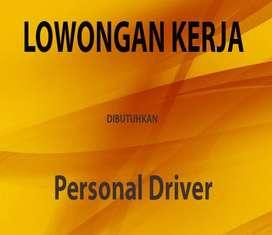Lowongan kerja Personal Driver
