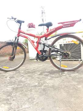 Atom top model bicycle , red colour ,only 6 months old 2019 varient