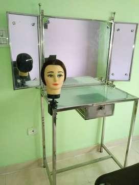 Beauty parlour folding steelfram dressing and chair