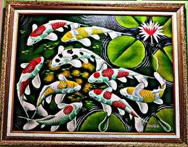 Lukisan Keris Genteng Ikan Kain Buku Mesin Freezer Ruko Properti Hp Tv