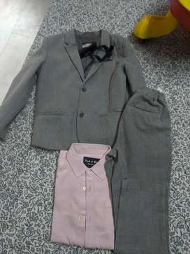 Boys Suit. Coat, Pant, Shirt with Bow tie.