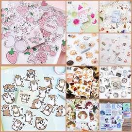 45pcs Sticker lucu sticker buku sticker laptop tempelan sticker kecil