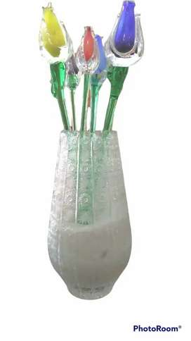Vas kristal bohemian asli tanpa bunga