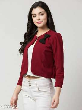 Women's solid red cotton blend top