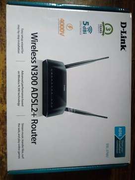 D-Link wireless N300 ADSL2+Router