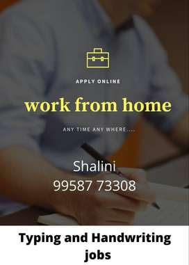 HANDWRITING AND TYPING  Part time job (WORK FROM HOME)