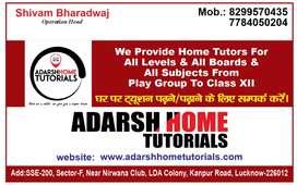 We  Provide Male/ Female home tutorsfor all classes in Lucknow