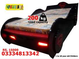 Superman Brand New Single Car Bed for Boys, Children Bedrooms Beds