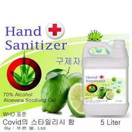 medical hand sanitizer Gel 5ltr free ongkir