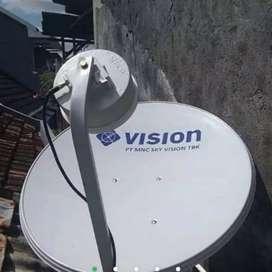 Pasang parabola mnc vision tv berlangganan