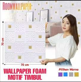 Wallpaper 3 dimensi foam