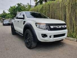 Ford ranger 2014 4x4 mt xlt - doblecabin - siap pakai