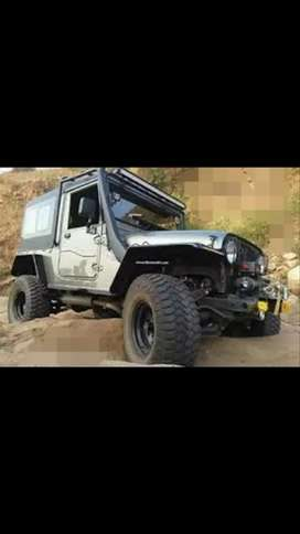 Modified Jeep mahindra thar